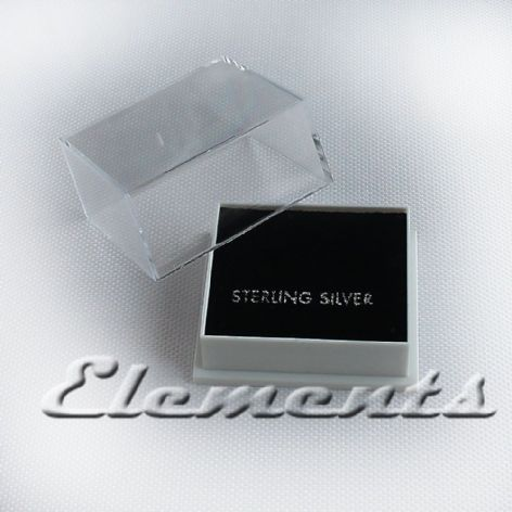 Plastic Clear Lid Stud Earrings Display Boxes With Black Pads